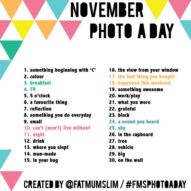 November Photo A Day Challenge: Find the list here #FMSphotoaday | fat mum slim