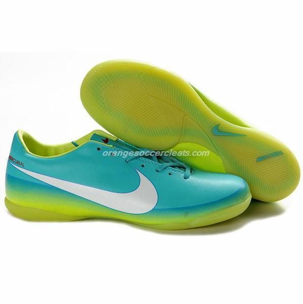 soccer cleats | ... Cool Nike Mercurial Victory III Indoor Green White Womans Soccer Shoes