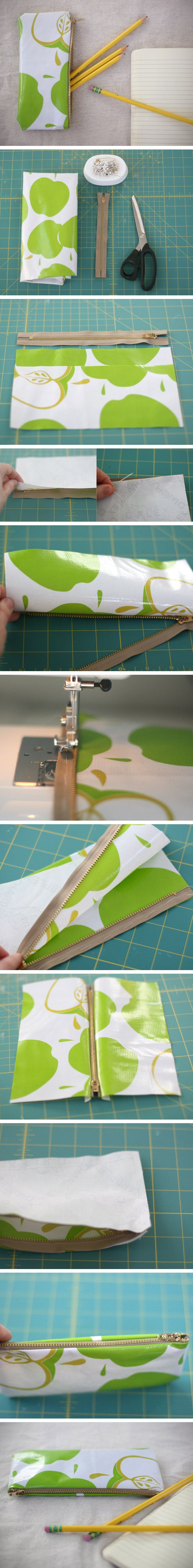 Estuche con tela impermeable / de http://www.momtastic.com/