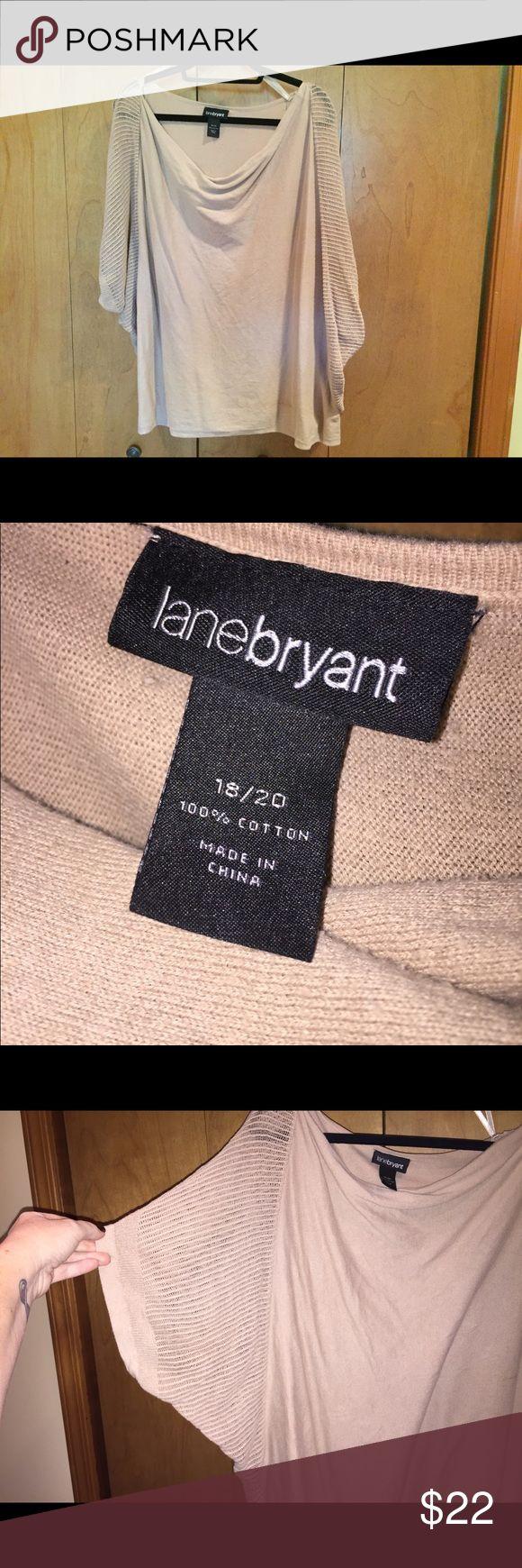 "18/20 Lane Bryant Cream batwing top Very cute cream colored batwing top.  23"" at bust and 28"" long Lane Bryant Tops Tunics"