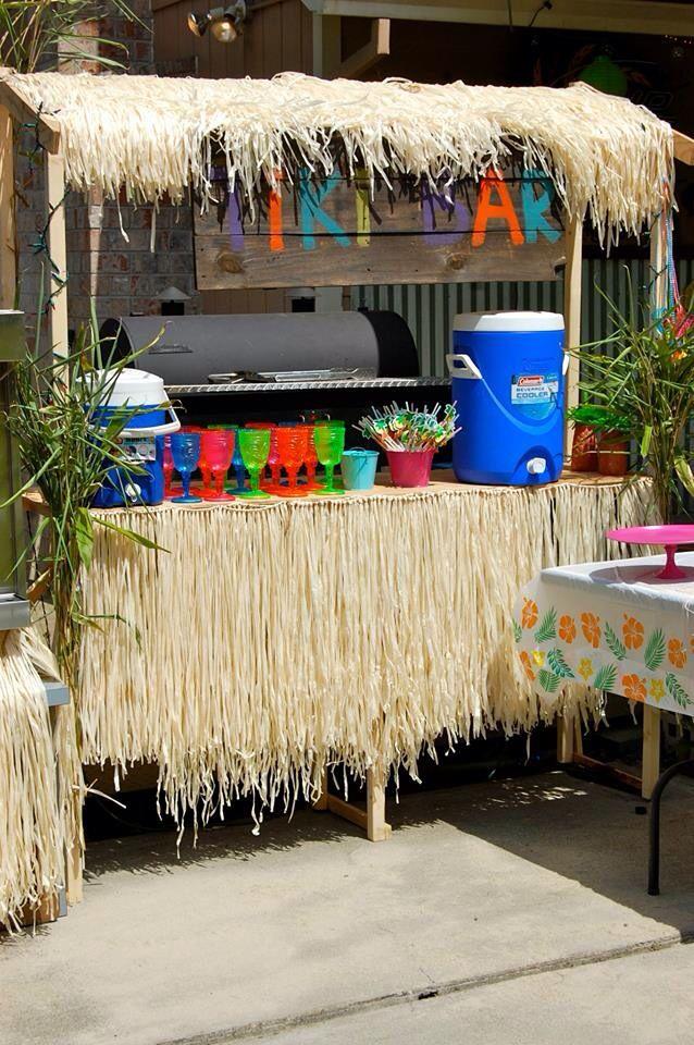 1000 images about homemade tiki bars on pinterest for Homemade tiki bar pics
