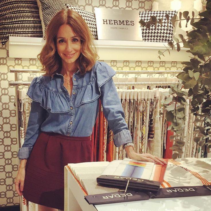 """236 curtidas, 7 comentários - Maria Barros (@mariabarroshome) no Instagram: """"Apanhada a cuscar as novas coleções da Hermès, Dedar, Missoni, Nobilis... No novo showroom da…"""""""