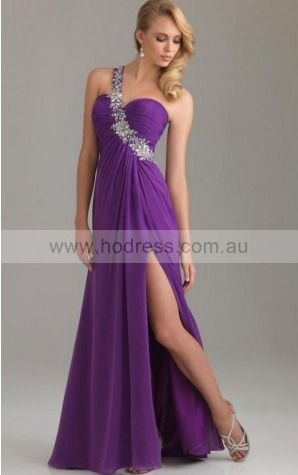 Backless Floor-length A-line Natural One Shoulder Formal Dresses gt5255--Hodress