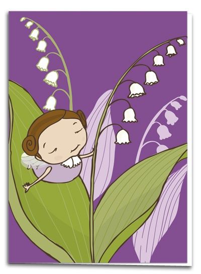 Lily of the valley - illustration by Terese Bast  #Lilyofthevalley #elf #sweet #illustration #teresebast
