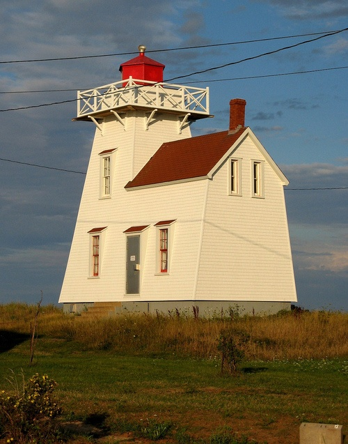Rustico lighthouse at sunset, North Rustico, Prince Edward Island, Canada  Photo: Andrea_44  Lighthouses