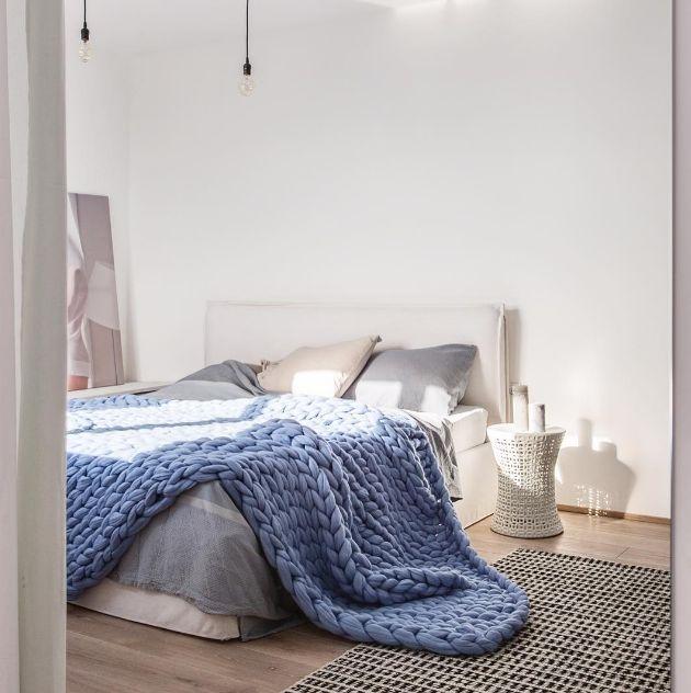tendance tricot les plaids xxl motifs cossais. Black Bedroom Furniture Sets. Home Design Ideas