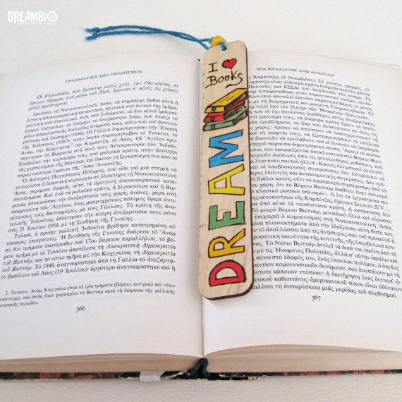 Bookmark wood burned bookmark Pyrography I by DreamBigHandmade