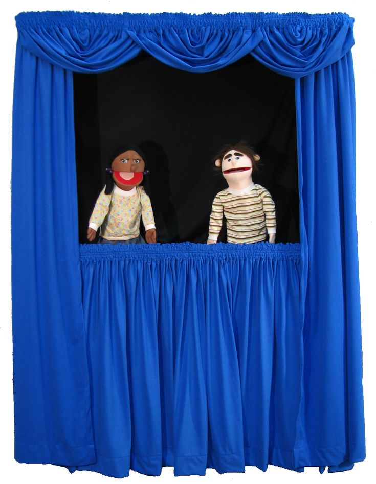 Make a puppet stage similar to this one.