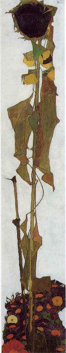 Egon Schiele, Sunflower Wien Museum, Vienna  http://www.independent.co.uk/arts-entertainment/art/great-works/great-works-sunflower-ii-circa-1910-egon-schiele-2149552.html