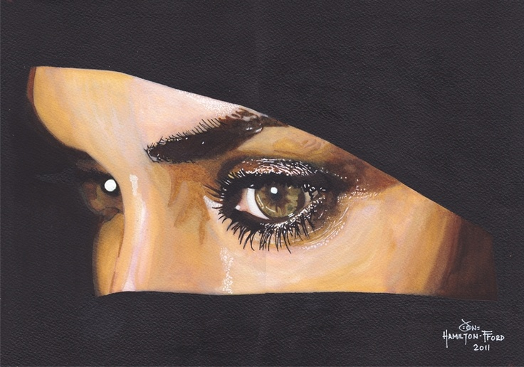 "Saatchi Online Artist: Jon Hamilton-Fford; Acrylic, 2011, Painting ""Veiled Beauty"""