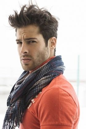 Men's Scarf - I actually like his hair more.