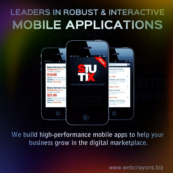 Transform your business with innovative and creative #Mobileapps with #WebCrayons , www.webcrayons.biz  in #Melbourne , #Australia