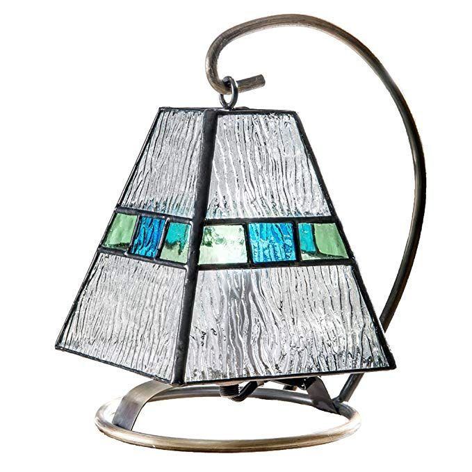 J Devlin Lam 703 Mini Lamp Blue Green Accent Night Light Tiffany Stained Glass Lamp Review Tiffany Stained Glass Night Light