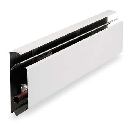 """Units w end caps. $16   Depth of cover:  Depth (In.): 2-11/16 """".  Hydronic Baseboard Heaters by HEATRIM AMERICAN - Baseboard Heaters by Zoro Tools Industrial Supplies.  http://www.zorotools.com/g/Hydronic%20Baseboard%20Heaters/00054987/"""