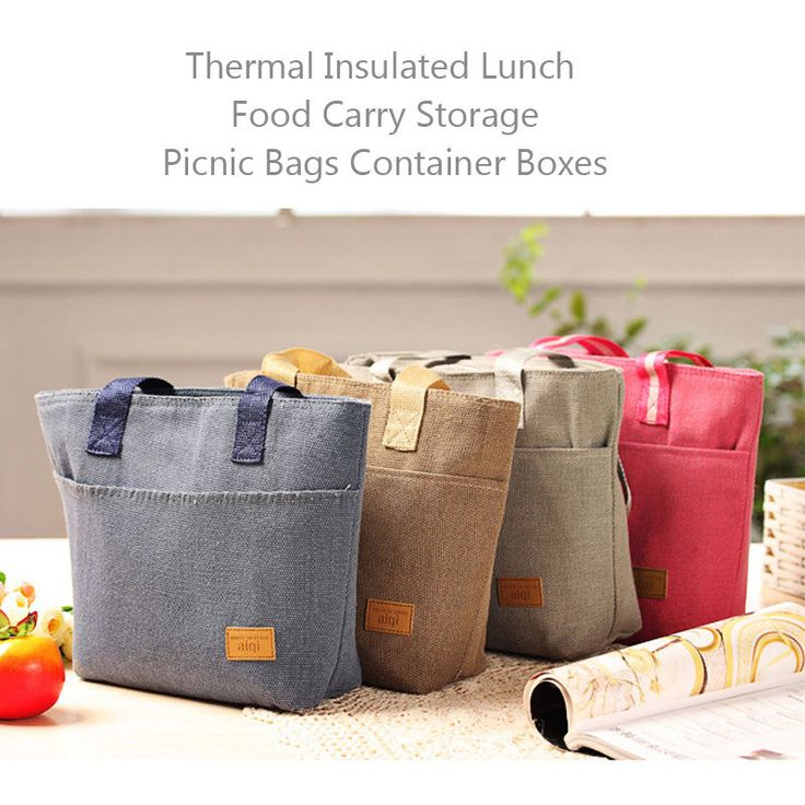 Protable Thermal Insulated Lunch Box Tote Cooler Bag Bento Picnic Storage Pouch #UnbrandedGeneric
