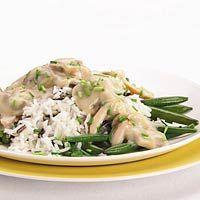 Recept - Kip-champignonragout met rijst - Allerhande