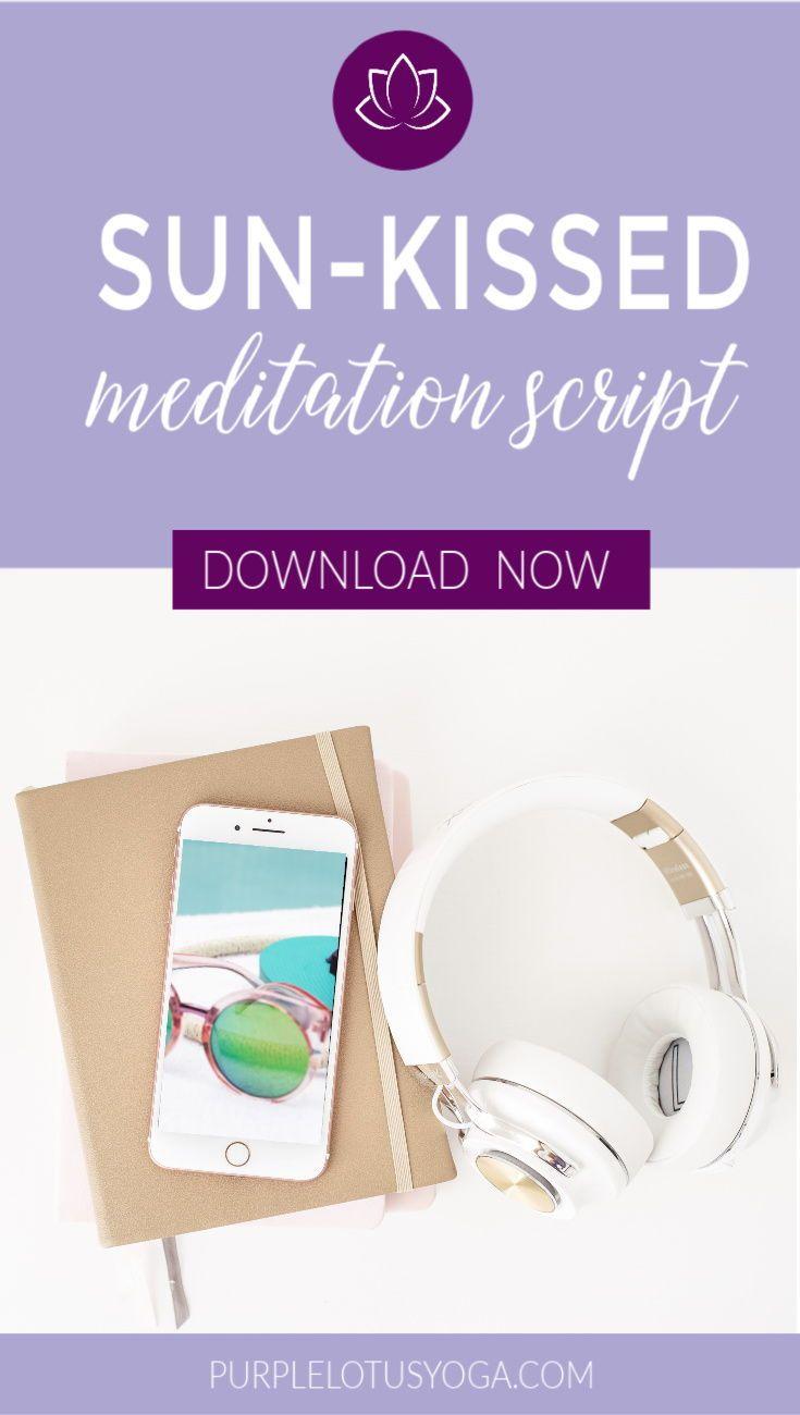 Free Guided Meditation Script Purple Lotus Yoga Meditation Scripts Free Guided Meditation Yoga Teachers