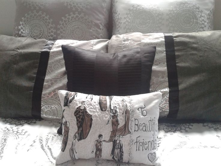 CREATEmeDESIGNS ... I made this little pillow for my lovely friends Karen and one for Kathy