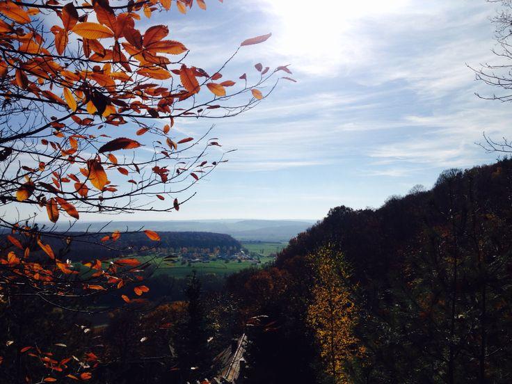 Vue d'automne à Oberbronn