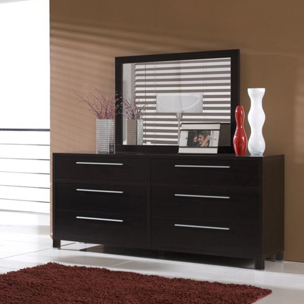 The Charming Emma Dresser And Mirror Set Is Perfect For Your Bedroom Features A Solid Wood Frame With Beautiful Espresso Finish