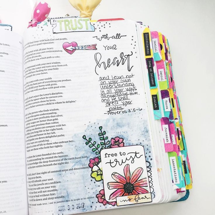 Bible Journaling by @krystal_marie_b
