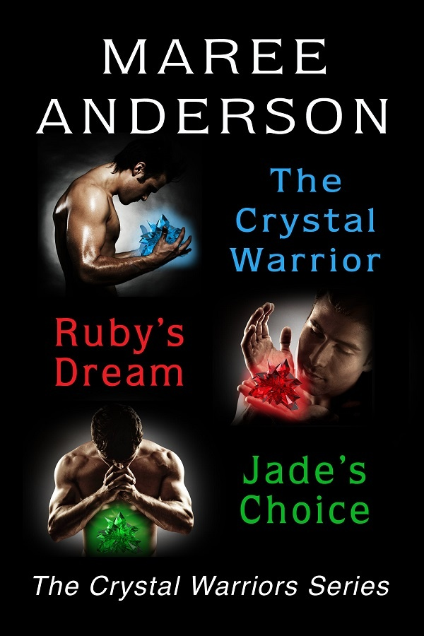 The Crystal Warriors Series Bundle: 3 full-length sexy paranormal romances. Bundle includes: The Crystal Warrior (Chalcedony & Wulf's story), Ruby's Dream (Ruby & Kyan's story,) Jade's Choice (Jade & Malach's story).  http://www.thecrystalwarriorsseries.com/