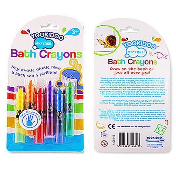>> Click to Buy << 6pcs/set Fun Play Educational Kids Toy  NEW Baby Toddler Washable Bath Crayons Bathtime Bath toys #Affiliate