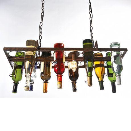 Deckenleuchte, Bottle, gestaltbar, Metall Vorderansicht