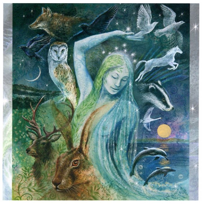 Sacred Creatures Of The Goddess  Each creature manifests a particular aspect of The Goddess. Each has a special gift to give.... a particular lesson to teach.: