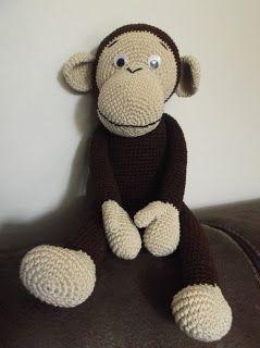 Zo'n mooi aapje, ik hoop hem ooit eesns te kunnen maken!!  HaakYdee: Gehaakte knuffel aap / amigurimi monkey