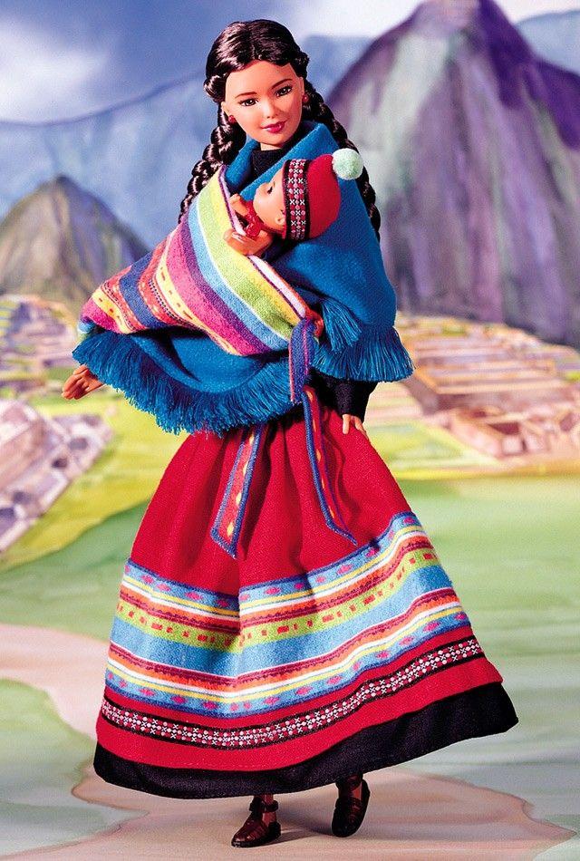 """Para terminar con este ciclo de """"Dolls of the World"""" visitaremos de la mano de Barbie el continente americano. ¡Qué lo disfruteis! North America South America Imágenes vía BarbieCollect…"""