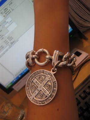Von Treskow Big Mama bracelet with Saint charm.