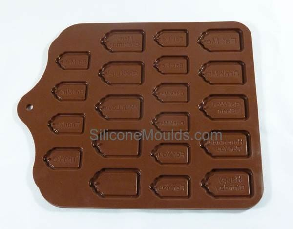 Create EDIBLE GIFT TAGS. Chocolate Mold, Candy Mould – Silicone Bakeware Moulds
