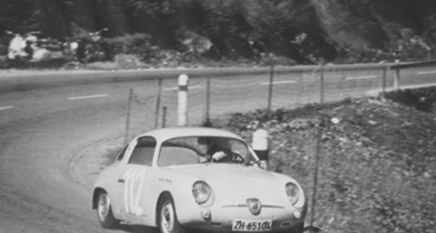 Vintage 8 X10 1961 Sebring 4-Hr Fiat Abarth 1000GT Dan Gurney Auto Racing Photo