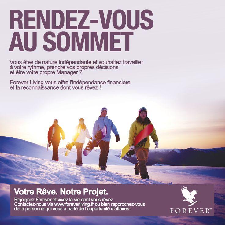 Rejoignez Forever et vivez la vie dont vous rêvez. Contactez-nous via www.foreverliving.fr  ou bien rapprochez-vous de la personne qui vous a parlé de l'opportunité d'affaires.