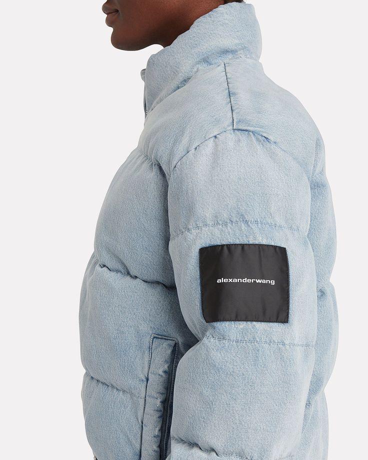 Bleached Denim Puffer Jacket in 2020 Bleached denim