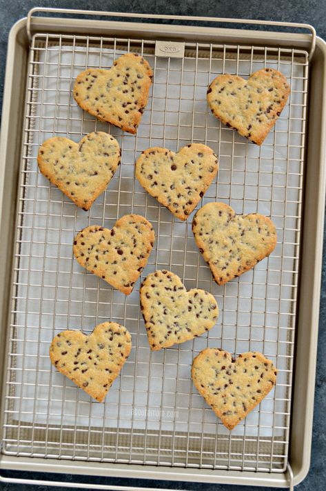Heart Shaped Chocolate Chip Cookies Recipe Valentine S Day