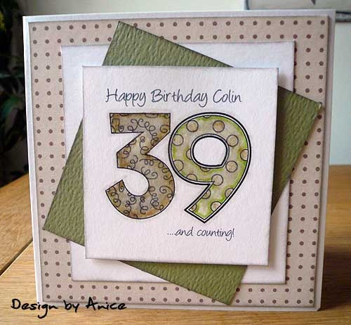 522 best Cards Birthday Numbers images – Papercraft Birthday Card