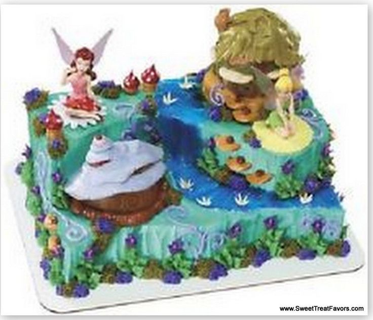 TINKERBELL Fairy Party cake Decoration Supplies TOPPER Kit Birthday