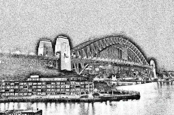 #SYDNEY #HARBOUR #BRIDGE #PENCIL #SKETCH by #Kaye #Menner #Photography Quality Prints Cards Products at: http://kaye-menner.pixels.com/featured/sydney-harbour-bridge-pencil-sketch-by-kaye-menner-kaye-menner.html