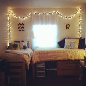beauty and a mess: Dorm Decorating 101 {I know this is for college kids, but I just had to pin this because it's so adorable and unique}