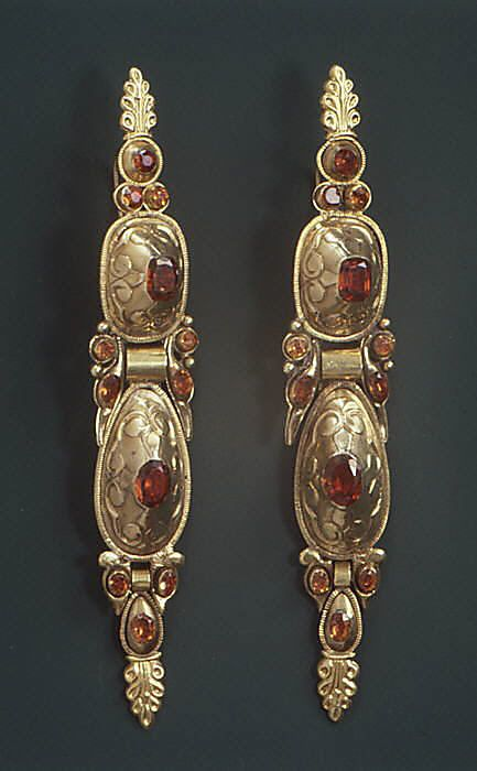 Pair of earrings Spanish ca. 18th Century