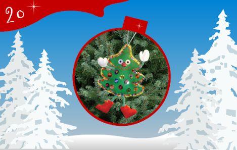 Jour 20 : un p'tit sapin de Noël rigolo pour décorer votre sapin de Noël ! - CREAKIT Loisirs Créatifs