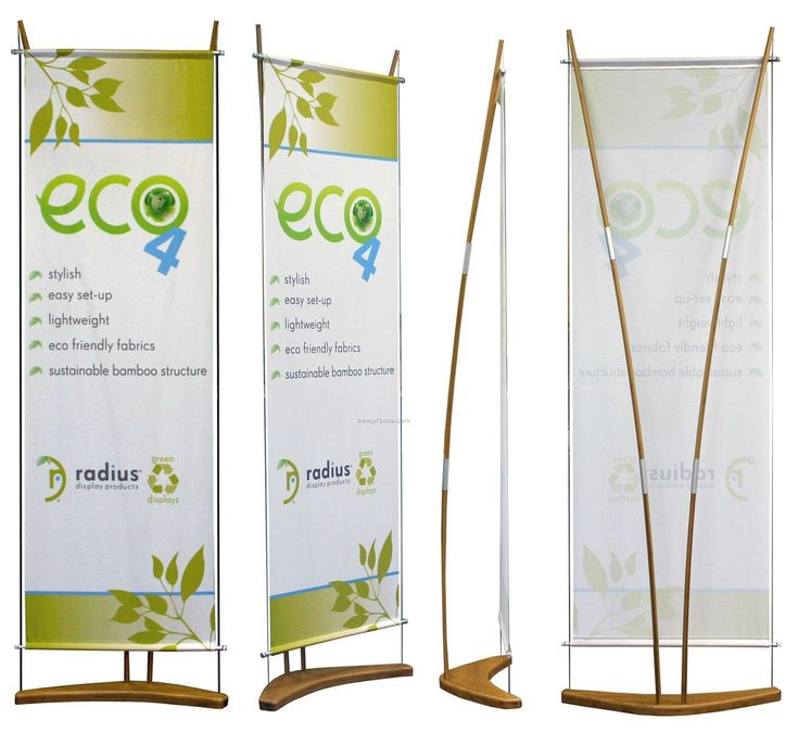 Eco 4 Banner Stand With Banner