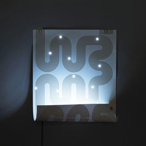 L-INK lamp poster by Jean-Sebastien Lagrange. Vu à la Biennale du Design SE.