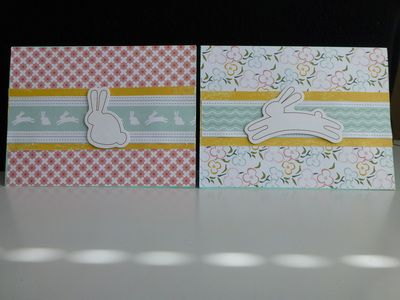 What cute Easter cards with little bunnies.  - PeppyPaper