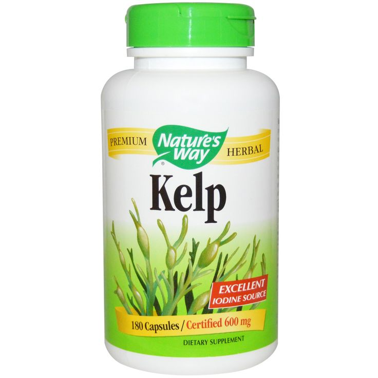 Nature's Way, Kelp, 600 mg, 180 Capsules  New to iHerb? Use coupon code NWB338