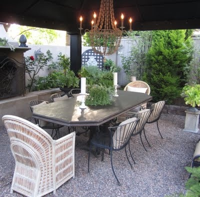 Love this chandelier and table setting!Dining Room, Outdoor Inspiration, Beautiful Backyards, Beautiful Water,  Terraces, Exterior Inspiration, Patios, Outdoor Spaces, Beautiful Outdoor