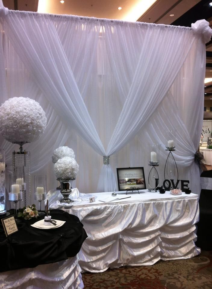 Some soft lights behind might be pretty too Elite Wedding Solutions booth at the London Bridal show!