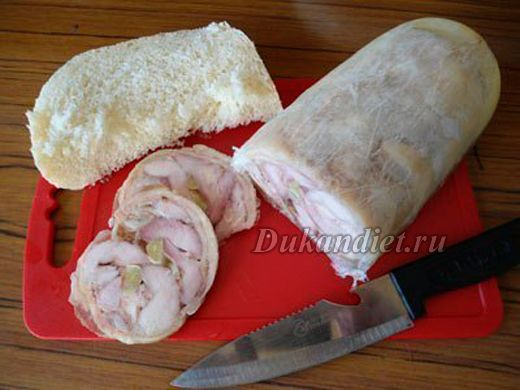 куриная ветчина (я делаю в духовке, в пакете для запекания)
